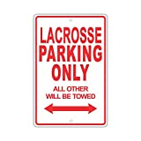 """BUICK LACROSSE Parking Only All Others Will Be Towed Ridiculous Funny Novelty Garage Aluminum 8""""x12"""" Sign Plate"""