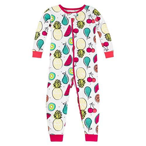 LAMAZE Organic Baby/Toddler Girl, Boy, Unisex Stretchie, Pink Fruit, 12M