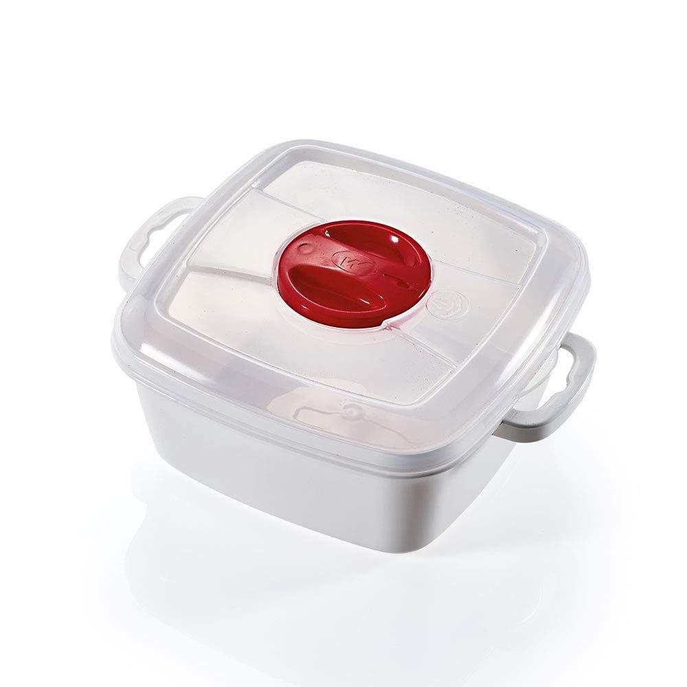 takestop® - Recipiente para cocinar al Vapor, microondas, con Tapa ...