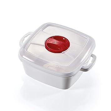 takestop® - Recipiente para cocinar al Vapor, microondas ...