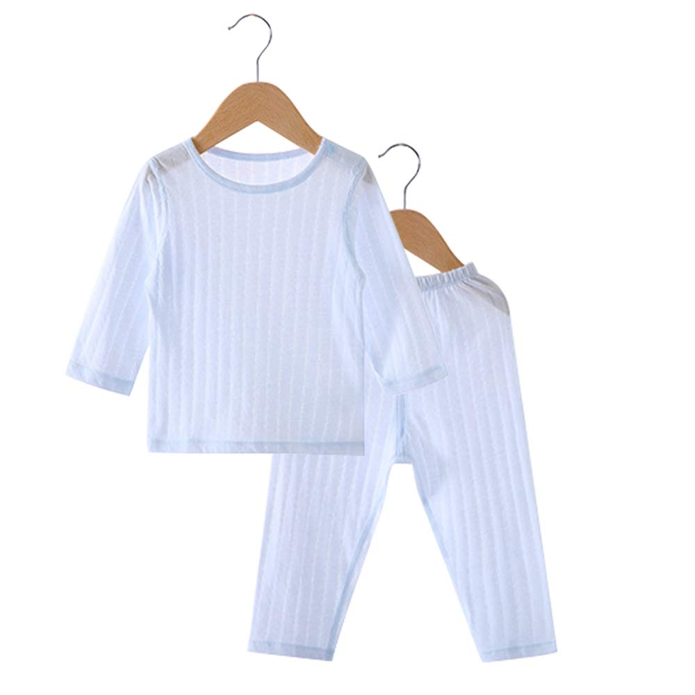 POBIDOBY Boy Girl 3 Sets Jammies 100/% Cotton Little Kid 6 Piece Pajamas Set Solid Long Sleeve T-Shirt and Pants