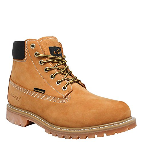 Adtec Hombres Tan 6in Nubuck Leather Impermeable Work Bota Tan