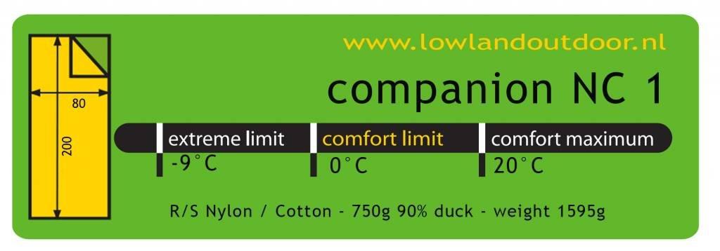 Nylon//Algod/ón egipci 1595 gr 0/°C Lowland Outdoor Companion NC 1-200 x 80 cm