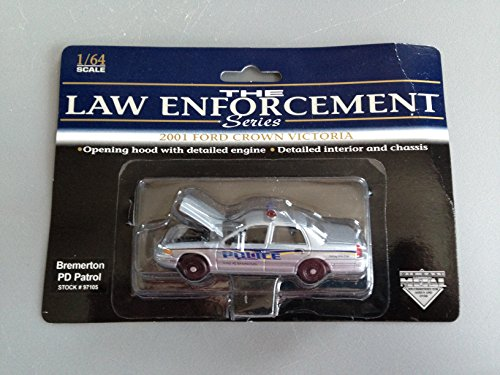 SpecCast Law Enforcement Series - Bremerton, Washington PD Patrol 97105 - 2001 Ford Crown Victoria 1:64 (Specs Crown Ford Victoria)