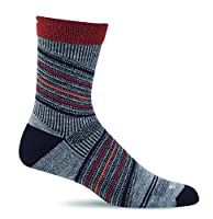 Sockwell Men's Summit Crew Compression Socks, Grey, Large/X-Large