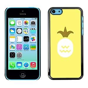 X-ray Impreso colorido protector duro espalda Funda piel de Shell para Apple iPhone 5C - Pineapple Art Oil Paint Yellow Fruit