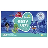 Pampers Easy Ups Diapers Size 5 (3T-4T), Pull On Disposable Training Pants for Boys, Giant Pack, 100 Countn[ DESIGNS MAY VARY ]