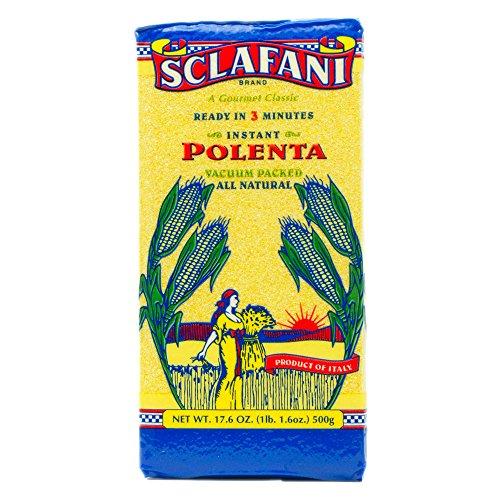 Instant Polenta Twelve Vacuum Packed Bags 17.6 Oz Nt Wt Ea. by Gus Sclafani Fine Italian Imports