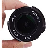 Pixco 8mm F3.8 Fish-eye CCTV Lens For C Mount Camera