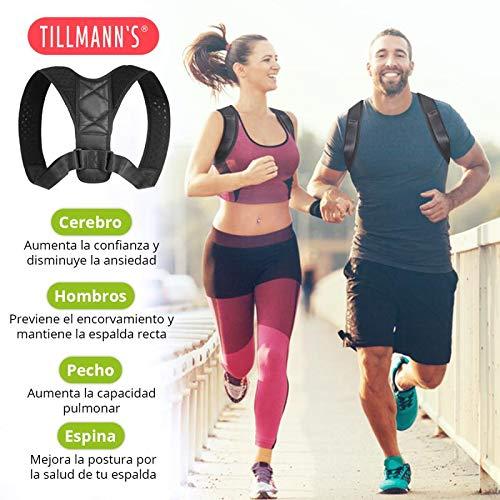 Tillmanns Corrector De Postura | Corrector Postura Espalda | Corrector De Espalda Mujer Y Hombre - Espalda Recta | Posture Corrector Para Uso Diario - No ...
