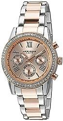 Akribos XXIV Women's AK872TTR Two-Tone Swiss Quartz Watch