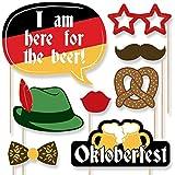 Oktoberfest - German Beer Festival Photo Booth Props Kit - 20 Count