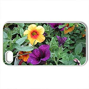 Fabulous greenhouse 04 - Case Cover for iPhone 4 and 4s (Flowers Series, Watercolor style, White)