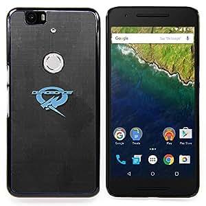 """Qstar Arte & diseño plástico duro Fundas Cover Cubre Hard Case Cover para Huawei Google Nexus 6P (Ouroboros"""")"""