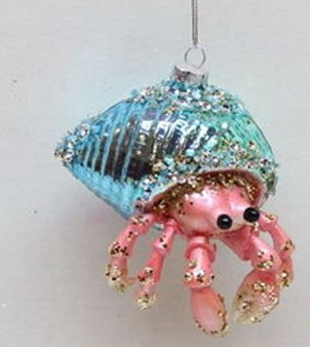 December Diamonds Blown Glass Embellished Hermit Crab Christmas Ornament -  Beachfront Decor - December Diamonds Blown Glass Embellished Hermit Crab Christmas