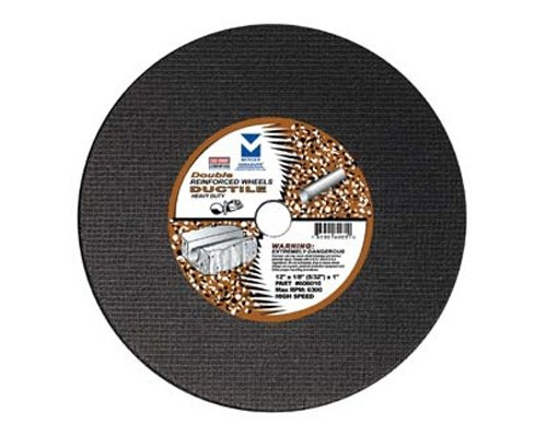 Mercer Abrasives 606030 High Speed Cut Off Wheels For Portable Gas Saws, Double Reinforced 14-Inch by 1/8-Inch x 1-Inch, 10-Pack ()