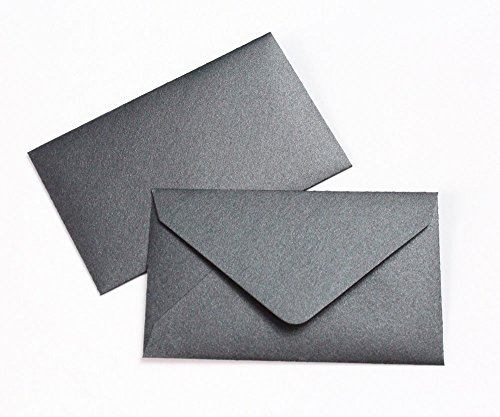 (Mini Envelopes 2 1/2 x 4 1/4- Metallic Black - 50 pack - My Scratch Offs)