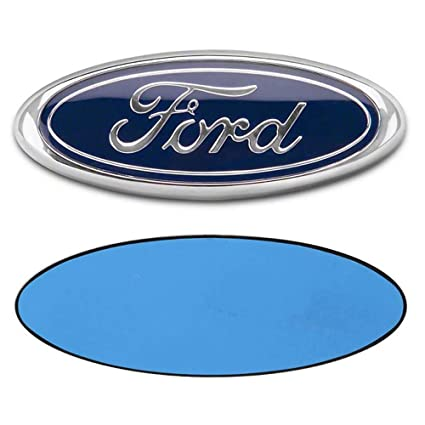 Blue 3D Oval 3M Double Side Adhesive Tape Sticker Badge for Ford Escape Excursion Expedition Freestyle F-150 F-250 F350 FORD 7 Inch Front Grille Tailgate Emblem