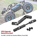 Nicemeet 2PCS Metal Drive Shaft, Medium Drive Shaft for Remote Control Model Car WPL 1/16 Military Truck RC Track Drive Shaft Enjoyment