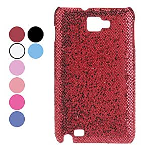 Bkjhkjy Glitter Pattern Hard Case for Samsung Galaxy Note I9220 (Assorted Colors) , Red