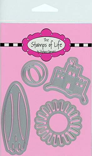 The Stamps of Life Fun Summer Die Cuts for Card Making and Scrapbooking Supplies by Stephanie Barnard - Summer4Fun Beach Vacation Dies Set