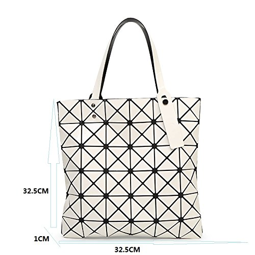 Shape Bao Sky Diamond Gel Sliver Tote Silica Silver Women Patchwork Size Laser Blue Bag Shoulder one Geometric Paint Baobao Handbags Bao F5SqqA