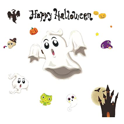 Set de decoración de Halloween Halloween Color Pegatinas estáticas ...