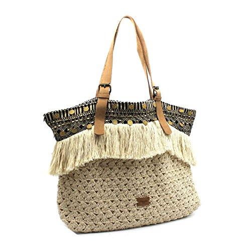de Cabas cabas bohème été en sac plage cuir d'italie ethnique sac collection de Sicile plage look anses ethnique 2018 WqadfIcqnv