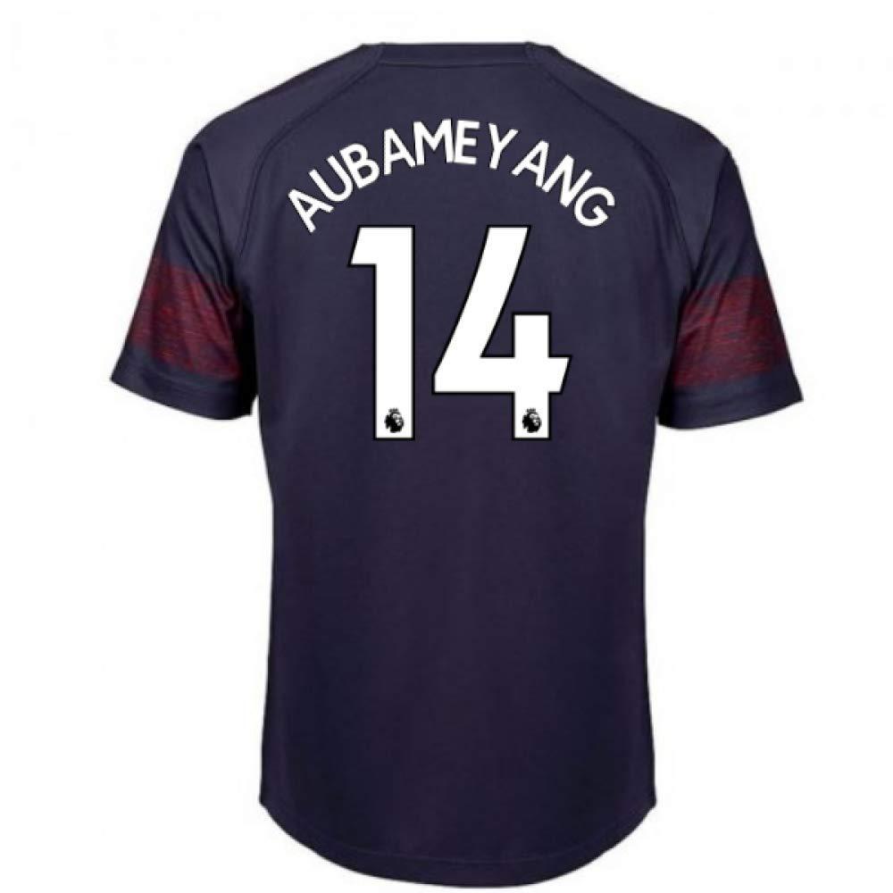 Dark blueee Large Boys - 30-32\ 2018-2019 Arsenal Puma Away Football Shirt (Aubameyang 14) - Kids