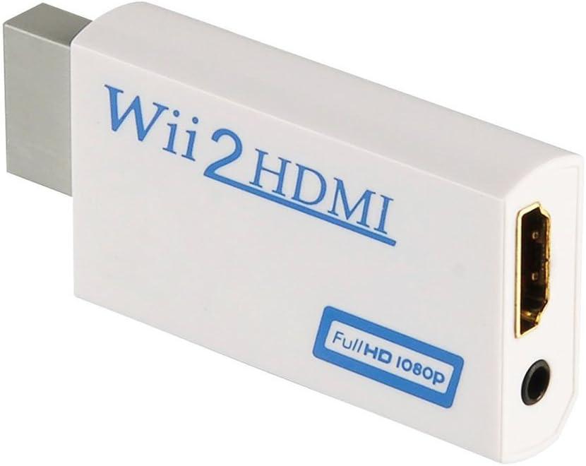 Wii convertidor HDMI/HDMI Converter para Wii – Wii Balance señal a 720p y 1080p – Soporta Todos los Modos de anuncios (Wii NTSC 480i 480p, 576i PAL) – con Audio estéreo 3,5