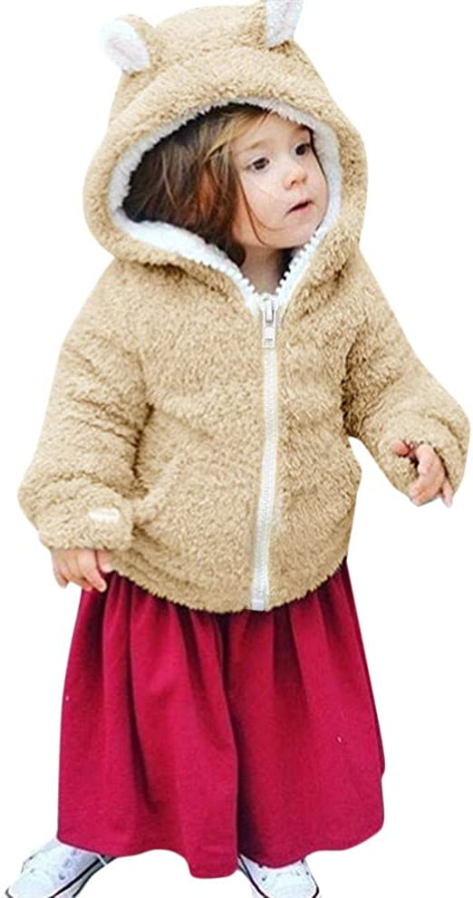 Lurryly❤Baby Girls Boys Kids Winter Warm Coat Cloak Thick Jacket Hoodies Hooded Outerwear 3-7T