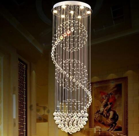 SEFINN FOUR 9 Height 79 inch Diameter 24 inch High Ceiling Light Modern Crystal Chandelier