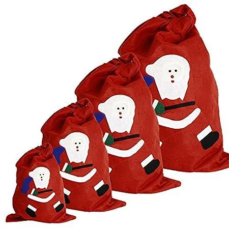 Gabkey 4 dimensioni calza di Natale sacchetto regalo per regali regali imballaggio
