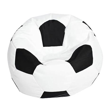for Kids LARGE Stuffed Animal Toys Storage Bean Bag Cover Football White