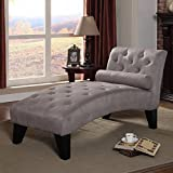 Delux Style Sophisticated Living Room Chaise Lounge Set, Features Durable Microfiber Upholstery and Button-Tufted Details, Refined Addition to Any Casual or Formal Aesthetic, Gray + Expert Guide