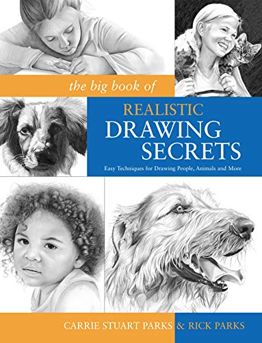 The Big Book of Realistic Drawing Secrets: Easy Techniques for drawing people, animals, flowers and nature Paperback – Illustrated, June 13, 2009