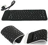 TetraByte Portable Flexible Silicone Foldable Waterproof Wired USB Laptop & Tablet Keyboard(Black, Blue, Pink, Purple)