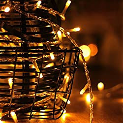LouisChoice 100 LED String Lights, Waterproof Decorative Lights, Fairy Lights for Bedroom, Patio, Garden, Gate, Yard, Parties, Wedding, Christmas, 8 Function