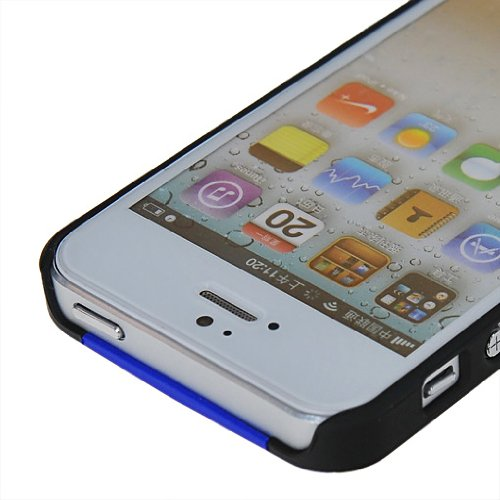 MOONCASE Hard Shell Cover Housse Coque Etui Case Pour Apple iPhone 5 5G Bleu
