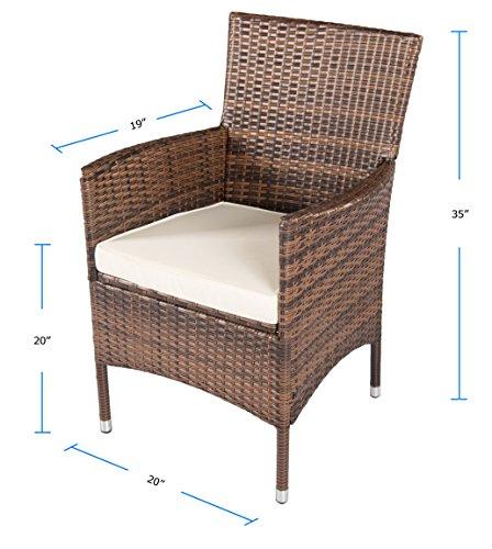 Suncrown Outdoor Furniture Wicker Chairs 2 Piece Set