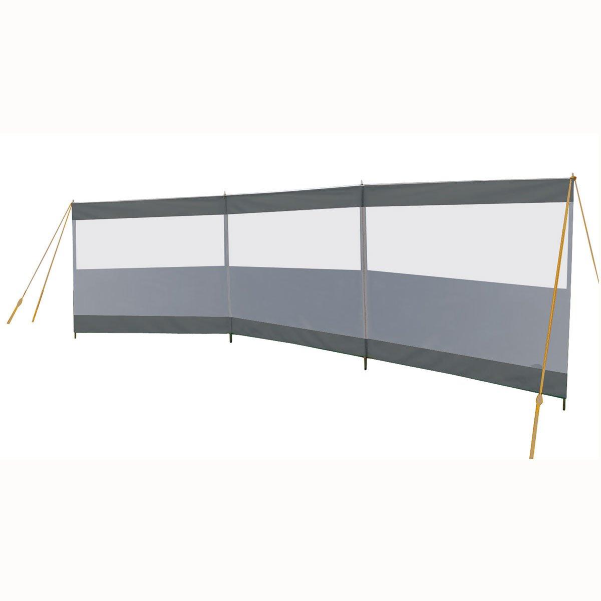 Windschutz mit Fenster 500x140 cm: Sicht Schutz Sonnen Camping Strand Garten Terasse Seitenmarkise Zaun