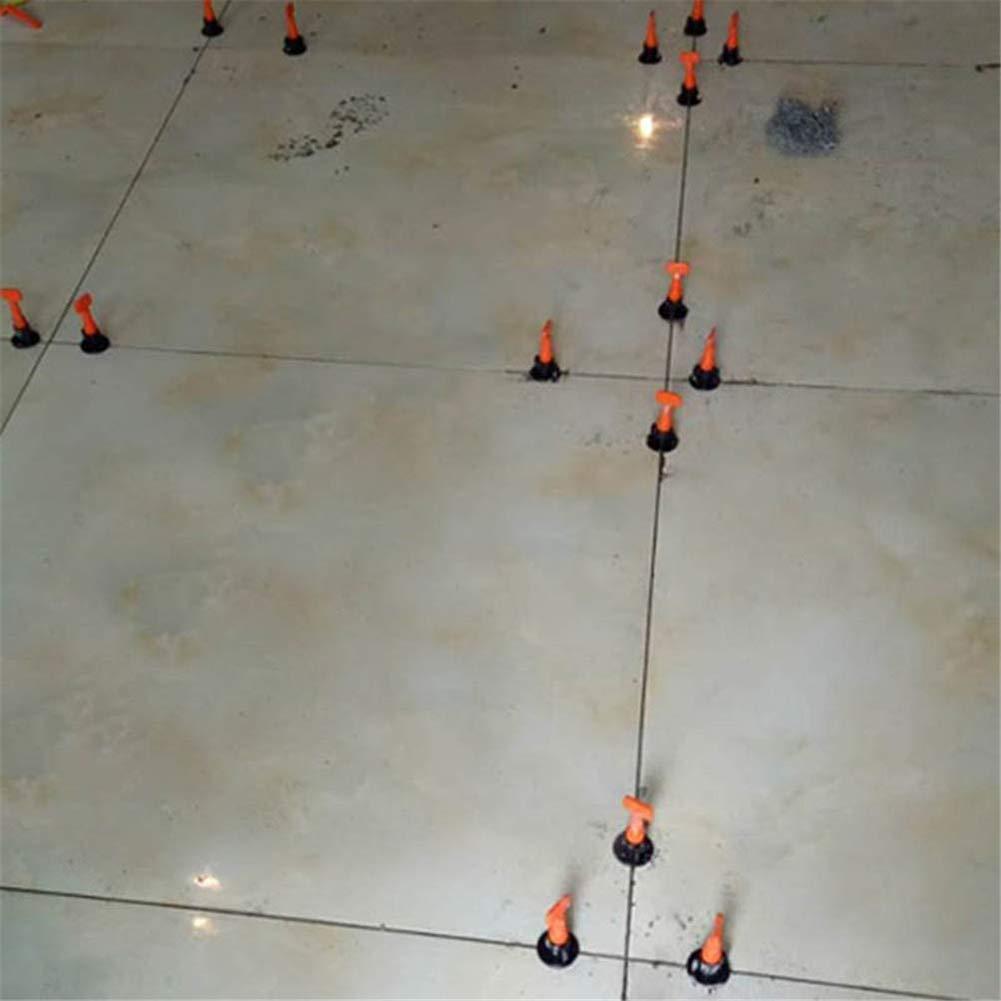 Wuudi Lot de 50 planches de carrelage en c/éramique portable r/éutilisable pour mur Orange