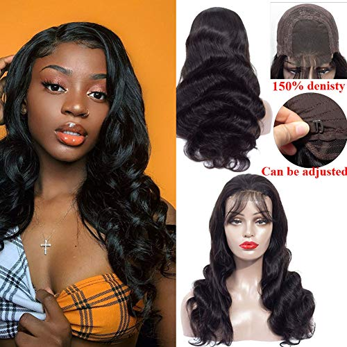 Healthair 9A Lace Front Wigs Human Hair 12inch Brazilian Remy Human Hair Lace Front Wigs For Black Women 4X4 Body Wave Lace Closure Wigs Human Hair Wigs with Baby Hair 150% Density(12