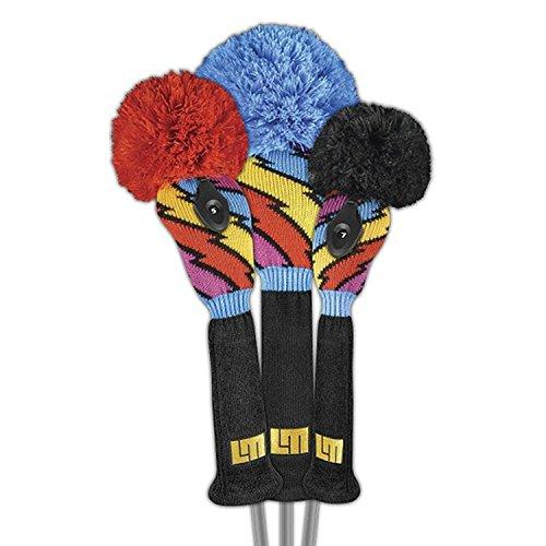 芝生スケジュールアスペクトラウドマウス キャプテン サンダーボルト ニット ヘッドカバー DR/FW/UT各1個 (Loudmouth Captain Thunderbolt Knit Head Cover)CPTB-S 【US正規品直輸入】