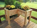 L-Shaped Cedar Elevated Patio Planter