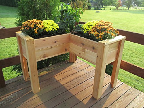 L-Shaped Cedar Elevated Patio Planter by Infinite Cedar