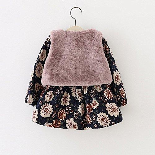 79ce5036e6e9d PAPA KIDS 子供服 こどもドレス 女の子ドレス 長袖 ワンピース +ボレロ2点セット韓国