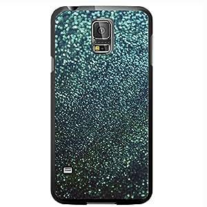 Dark Teal Glitter Gradient Hard Snap on Phone Case (Galaxy s5 V)