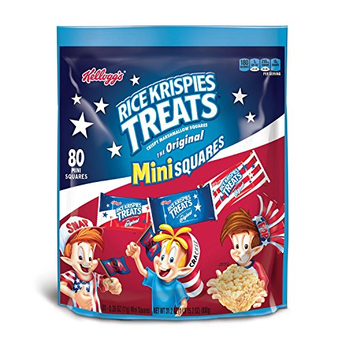 Rice Krispies Treats Marshmallow Fourth of July 80 Mini Squares -