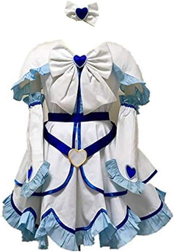 Noblecos PreCure Cure Costume Cure White Cosplay Costume Yukishiro Honoka Costume